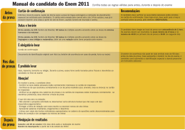 Manual do candidato do Enem 2011