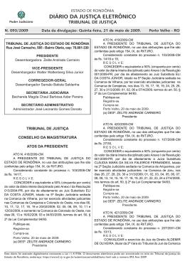 21 - Tribunal de Justiça de Rondônia