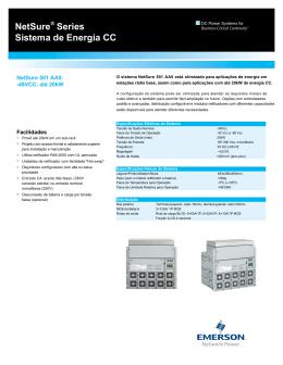 NetSure® Series Sistema de Energia CC