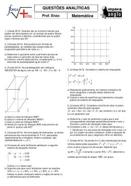 QUESTÕES ANALÍTICAS Matemática