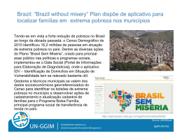 "Brazil: ""Brazil without misery"" Plan dispõe de aplicativo para"