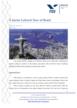 A Game Cultural Tour of Brazil