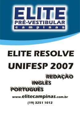 Resolução comentada - Elite Pré-Vestibular