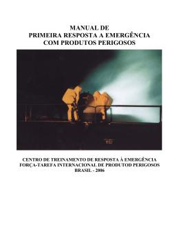 manual de emergencia com produtos perigosos