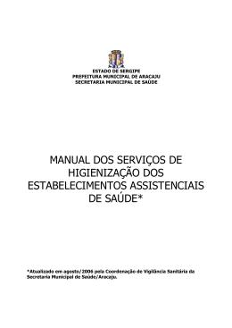 manual dos serviços de higienização dos estabelecimentos