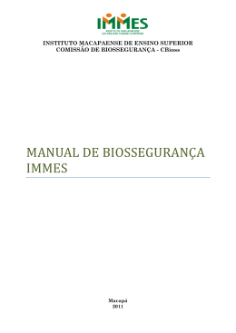 Manual de Biosegurança IMMES