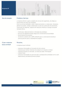 Empresa #1 Área de atuação: Produtos e Serviços