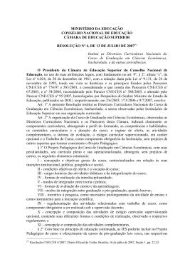 Resolução CNE/CES n° 4/2007