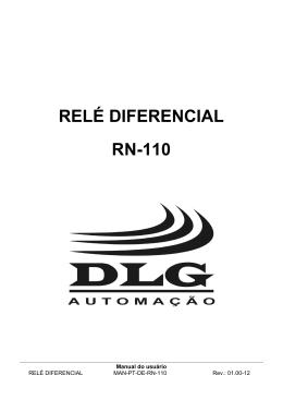 RELÉ DIFERENCIAL RN-110 - DLG Automação Industrial