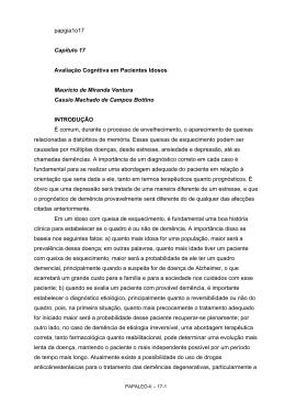 papgia1o17 Capítulo 17 Avaliação Cognitiva em Pacientes Idosos