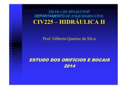 Civ225-Orificios e Bocais - Escola de Minas