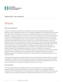 Versão em PDF - Enciclopédia sobre o Desenvolvimento na