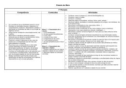 Estudo do Meio 1º Período Competência Conteúdos Atividades