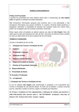 www.likeangola.com Página 1 NORMAS E PROCEDIMENTOS