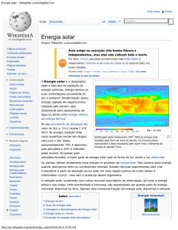 Energia solar – Wikipédia, a enciclopédia livre