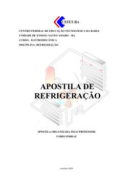 APOSTILA DE REFRIGERAÇÃO - Blog do Professor Fábio Ferraz