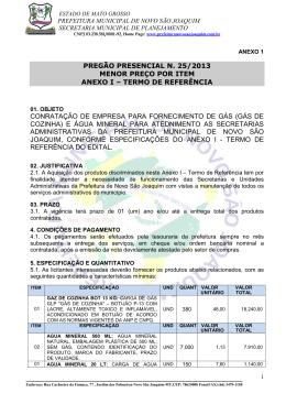 07 - ANEXO I - TERMO DE REFERENCIA - Novo São Joaquim-MT