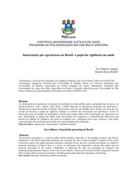 Intoxicações por agrotóxicos no Brasil: o papel da