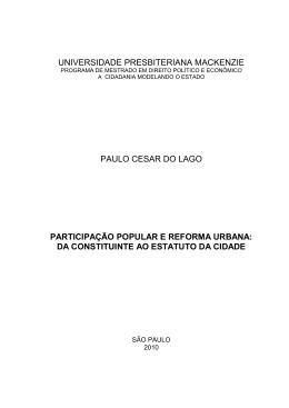 dissertação mestrado paulo cesar do lago