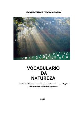 VOCABULÁRIO DA NATUREZA