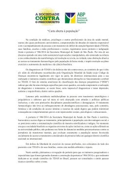 """""""Carta aberta à população"""" - Associação Brasileira de Psiquiatria"""