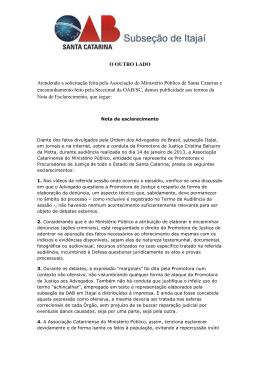 Leia Mais - OAB Subseção Itajaí