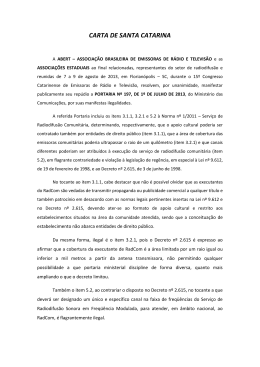 CARTA DE SANTA CATARINA