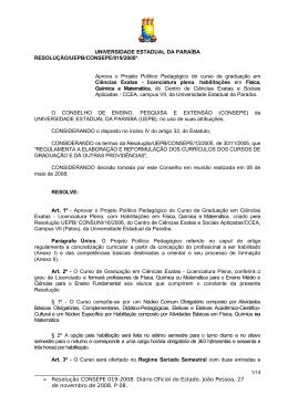 MINUTA DE RESOLUÇÃO/UEPB/CONSEPE/____/2008