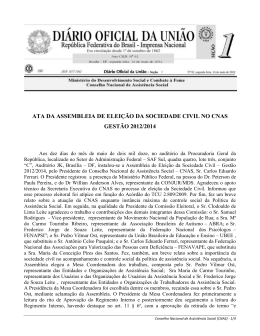 Ata da Assembleia de Eleição - MINISTÉRIO DO Desenvolvimento