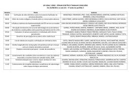 10º JOBA/ I EBRO - FÓRUM CIENTÍFICO TRABALHO