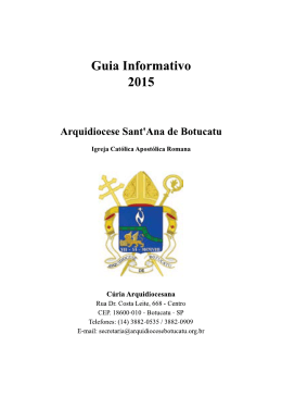 Obras Sociais - Arquidiocese Sant`Ana de Botucatu