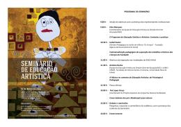 PROGRAMA DO SEMINÁRIO 9.00 h - Sessão de abertura com a