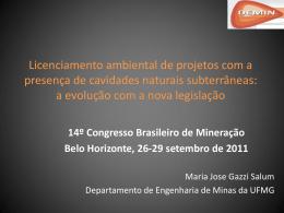 Licenciamento ambiental de projetos com a presença de