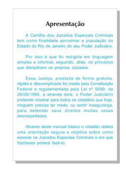 Cartilha dos Juizados Especiais Criminais