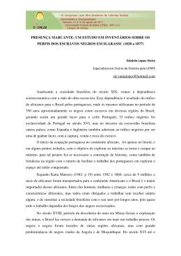 PRESENÇA MARCANTE: UM ESTUDO EM INVENTÁRIOS SOBRE