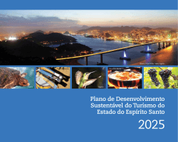 Plano de Desenvolvimento Sustentável do Turismo do Estado do