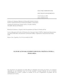 sólo para participantes - Comisión Económica para América Latina