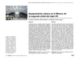 Equipamiento urbano en el México de la segunda mitad del siglo XX