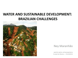 water and sustainable development: brazilian challenges