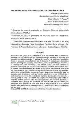 Artigo completo  - 10º Congresso Carioca de Educação Física