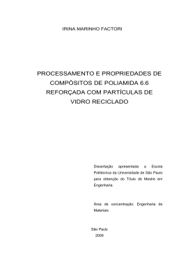 processamento e propriedades de compósitos de poliamida 6.6