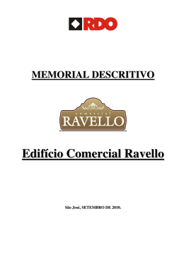 Memorial Descritivo Comercial Ravello