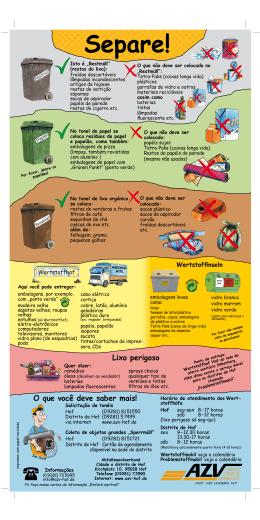 Lixo perigoso O que você deve saber mais! - AZV-Hof