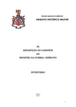 FO-06 Repartição do Gabinete do Ministro da Guerra