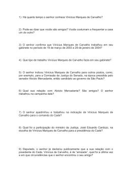 Veja a lista de perguntas preparadas por Mario Covas Neto e não