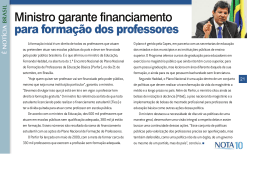Ministro garante financiamento para formação dos professores
