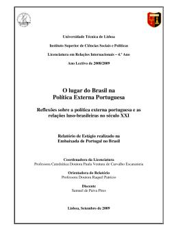 O lugar do Brasil na Política Externa Portuguesa
