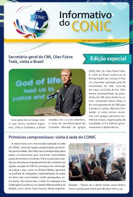 visita à sede do CONIC - Conselho Nacional de Igrejas Cristãs do