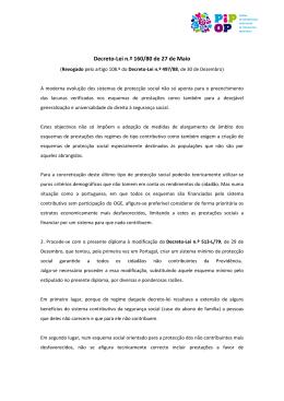 Decreto-Lei n.º 160/80 de 27 de Maio