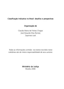 Classificação Indicativa no Brasil: desafios e